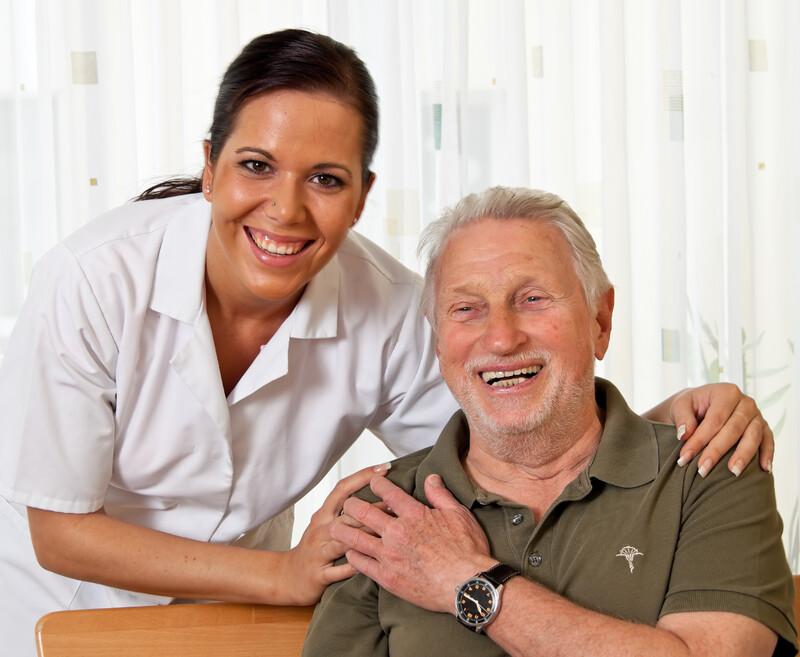 home nurse and man